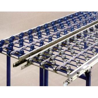 Convoyeurs gravitaires à galets pour charges légères, droits ou courbes