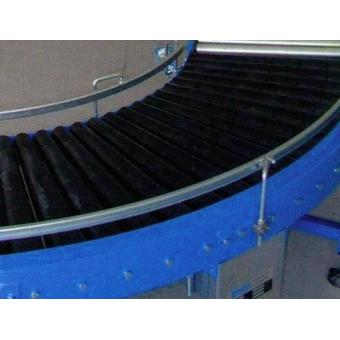 Courbes motorisées à rouleaux et entraînement par chaînes de rouleau à rouleau
