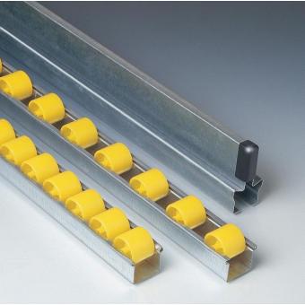 Rails à galets standards avec galets normaux